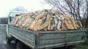Газель колотых дров