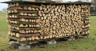 Укладка дров в паленницу