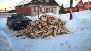 Доставленные дрова
