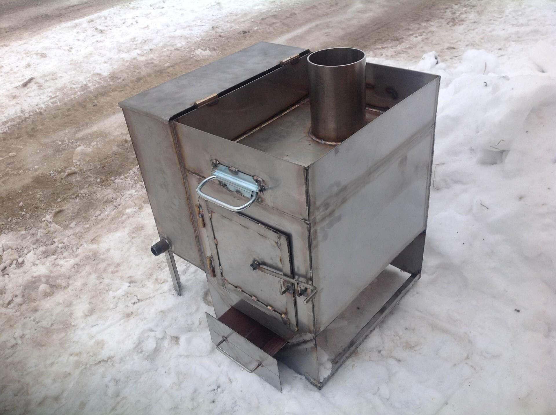 Металлическая печь в баню своими руками видео